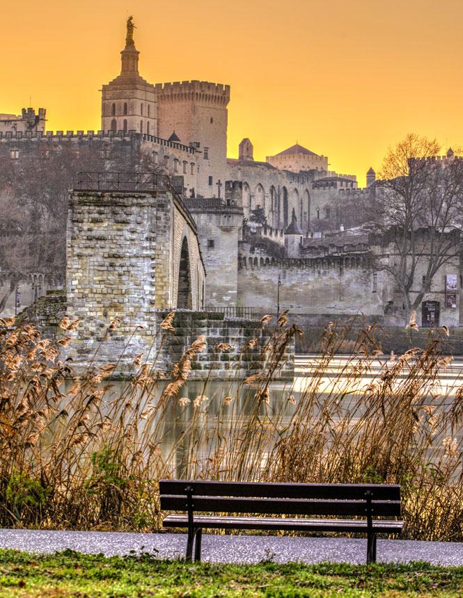Lever de soleil à Avignon