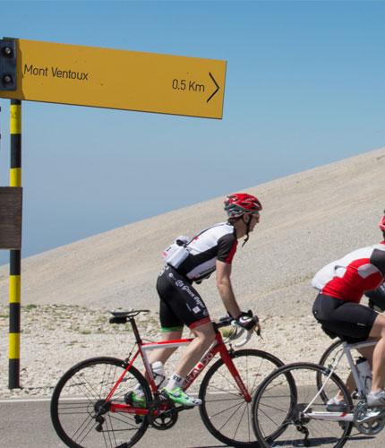 Cyclistes montant le Ventoux