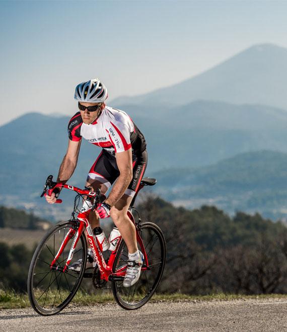 Ascent mont Ventoux by bike