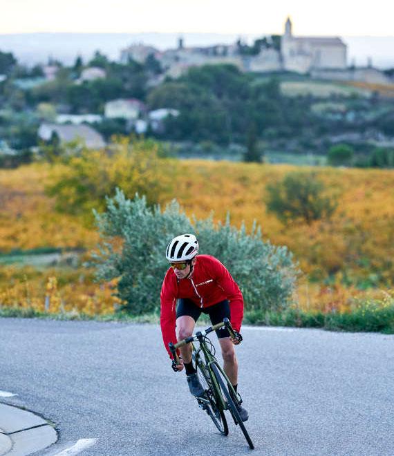 Cyclosportif au pied du ventoux