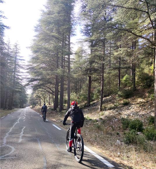 Descente du Ventoux à vélo
