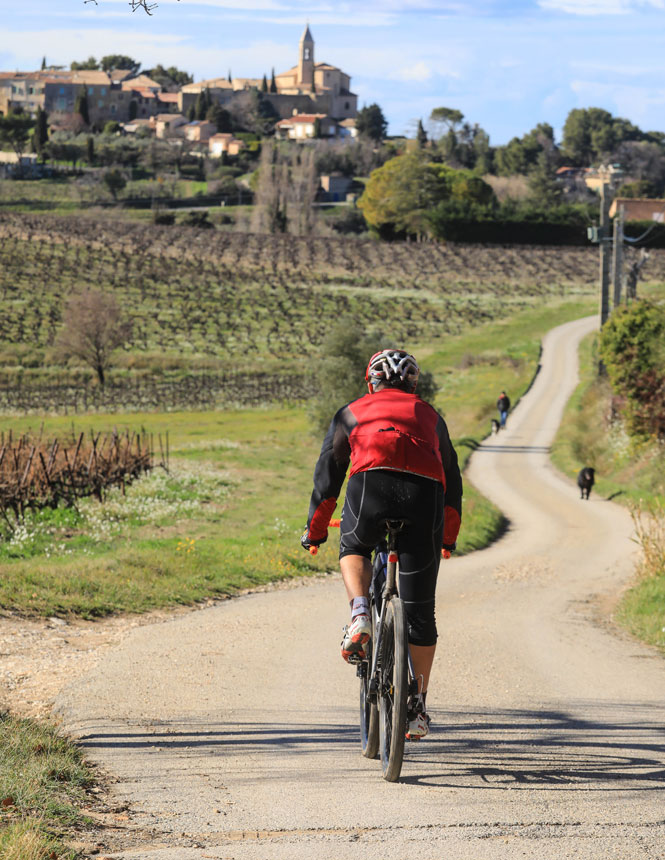 Gravel sur route en Vaucluse