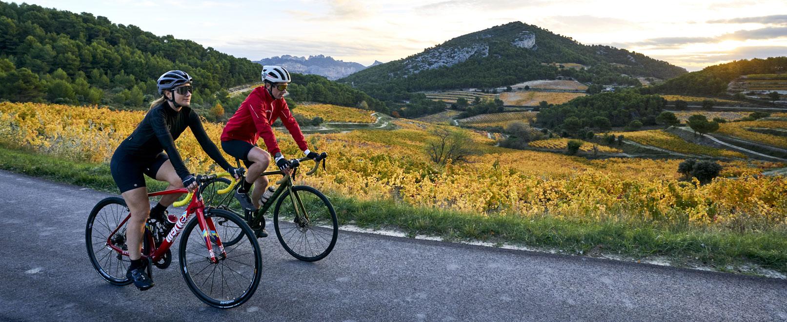 Vineyards and bikes: A Di-VINE duo!